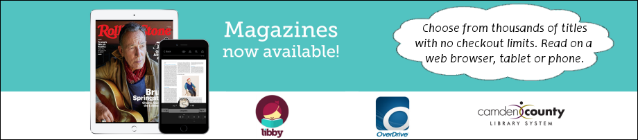 Magazines now available through Libby and Overdrive.  Choose from thousands of titles with no checkout limits.  Read in a web browser, or on your tablet or phone.