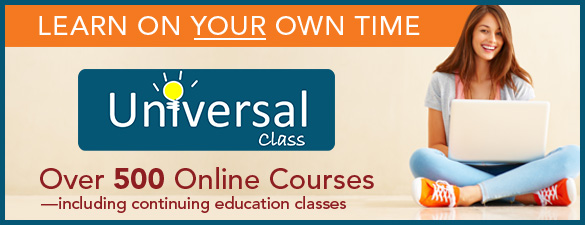 Learn on your own time: Universal Class