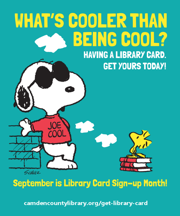 Snoopy is the Honororary Chairperson of Get a Library Card Month!