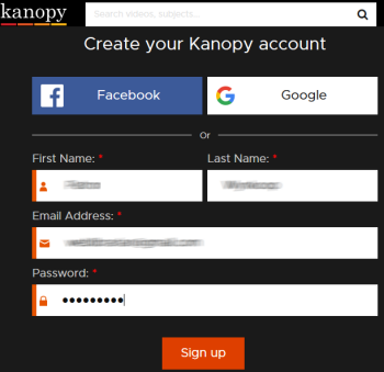 Create a Kanopy account.