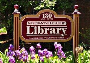 Merchantville Public Library Sign