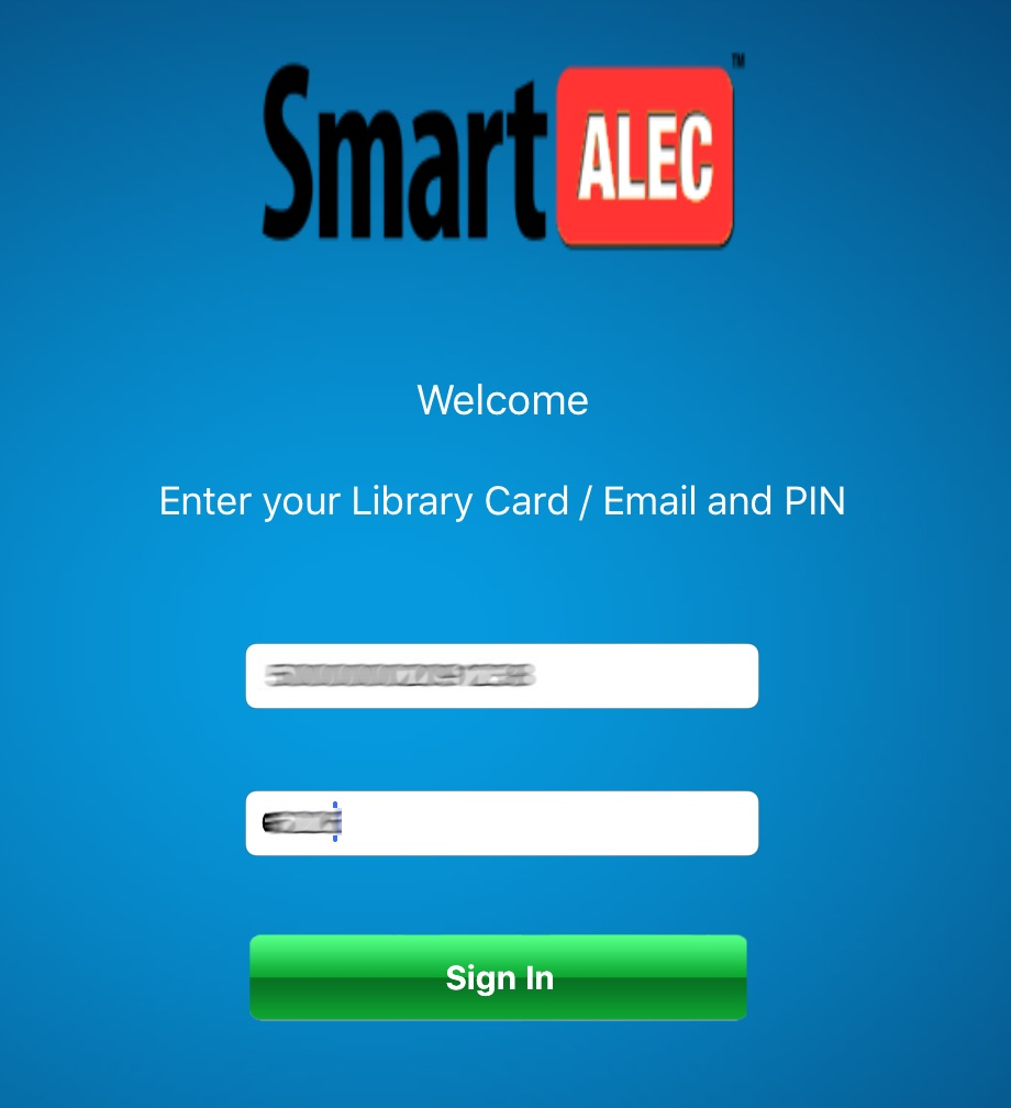 Sign in to SmartAlec