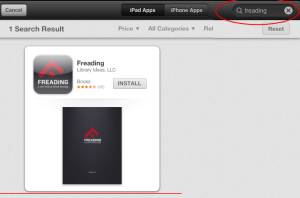 Search for Freading app
