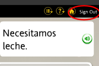 Sign Out of Rosetta Stone
